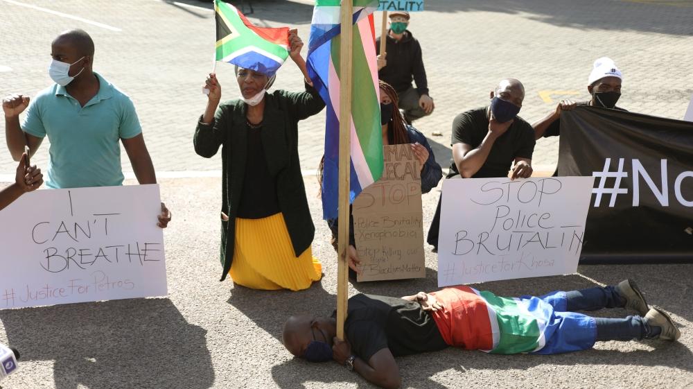 A Pretoria également, capitale Sud-africaine, des manifestants ont scandé halte aux brutalités policières