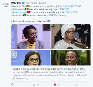 Les quatre femmes africaines en question (crédit photo ONU INFO)