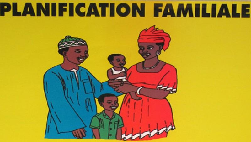 Illustration graphique d'une campagne de sensibilisation en faveur de la planification familiale